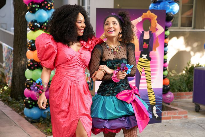 """Jasika Nicole (right) stars as Lauren in Peacock's """"Punky Brewster"""" revival, which premiered Feb. 25."""