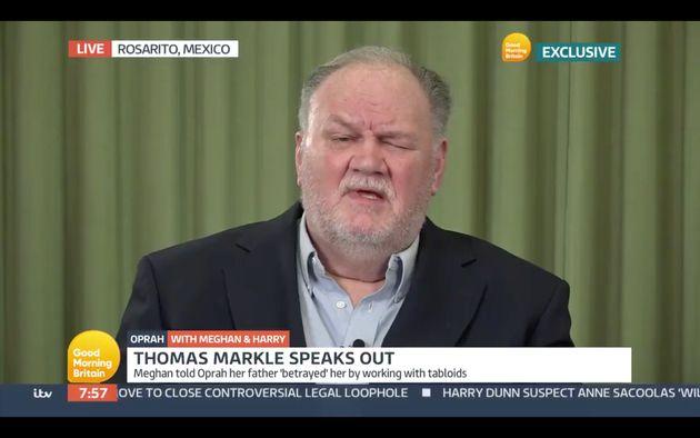 Le père de Meghan Markle, Thomas, en interview le 9 mars