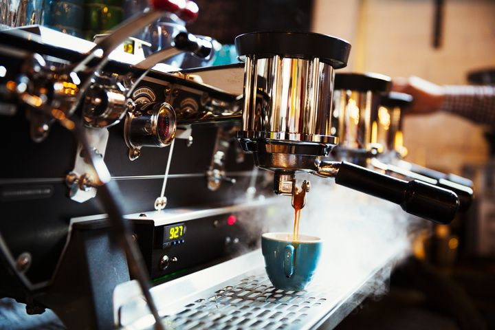 "An espresso machine ""uses 9-10 bars of pressure to push water through the grounds,"" says Sam Sabori, director of coffee at Intelligentsia."