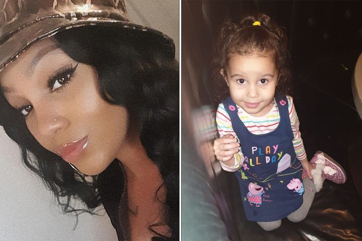 Yazmin Lewis and her daughter.
