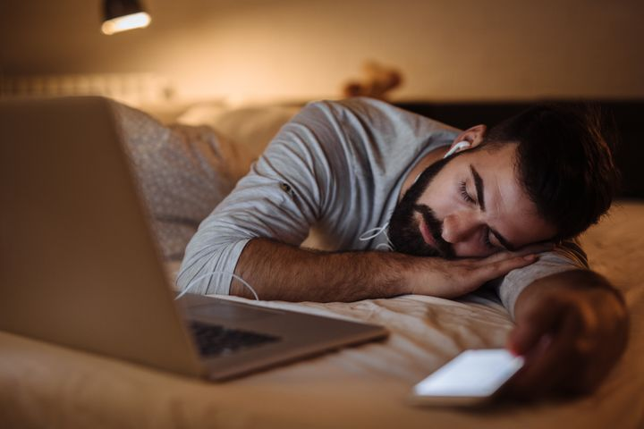 Try out a meditation or storytelling app to lull you to sleep.