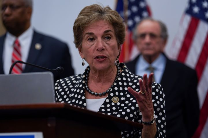 Rep. Jan Schakowsky (D-Ill.) speaks during a news conference on the Trump administration's tax cuts on June 22, 2018. She is