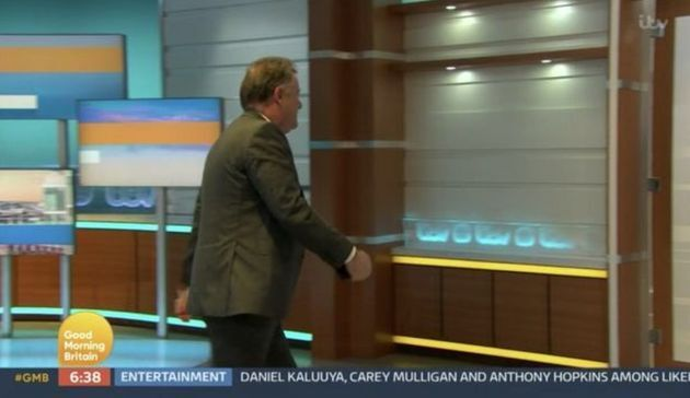 Piers Morgan stormed off the Good Morning Britain set