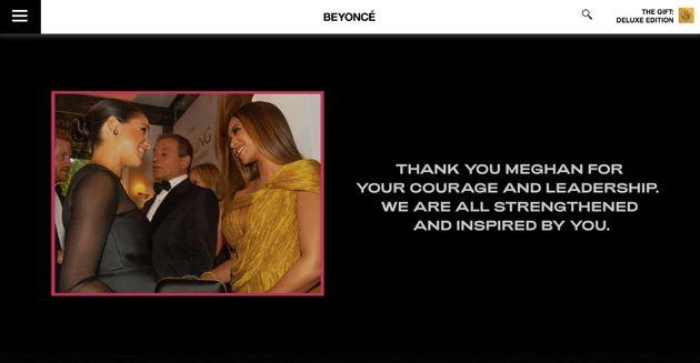 Beyonce remercie Meghan Markle pour