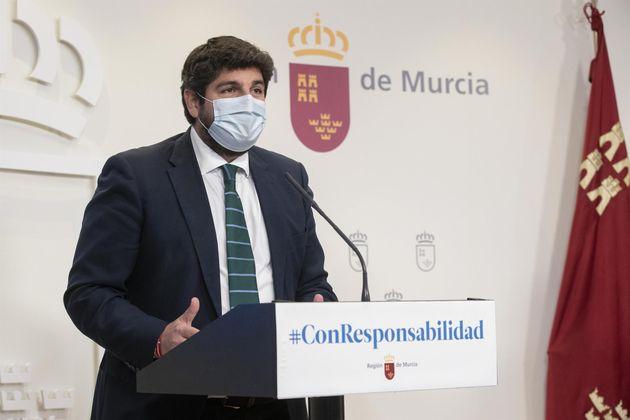 El presidente de la Región de Murcia, Fernando López