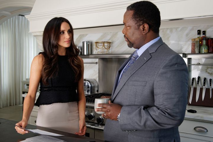 """Meghan Markle and Wendell Pierce on """"Suits."""""""