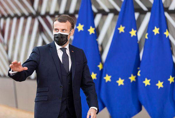 Emmanuel Macron lors du Conseil européen de Bruxelles en décembre