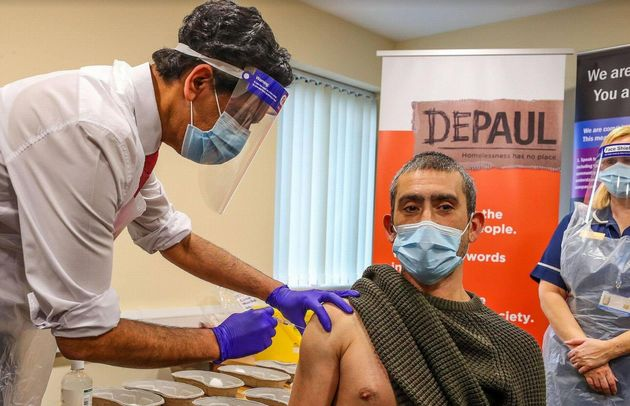 Dr Zahid Chauhan delivered the first coronavirus vaccine to a homeless