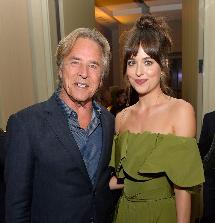 Don Johnson and Dakota Johnson at the 2019 Toronto International Film Festival.