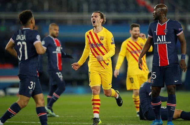 Antoine Griezmann durante el partido de vuelta de los octavos de la Champions este miércoles en