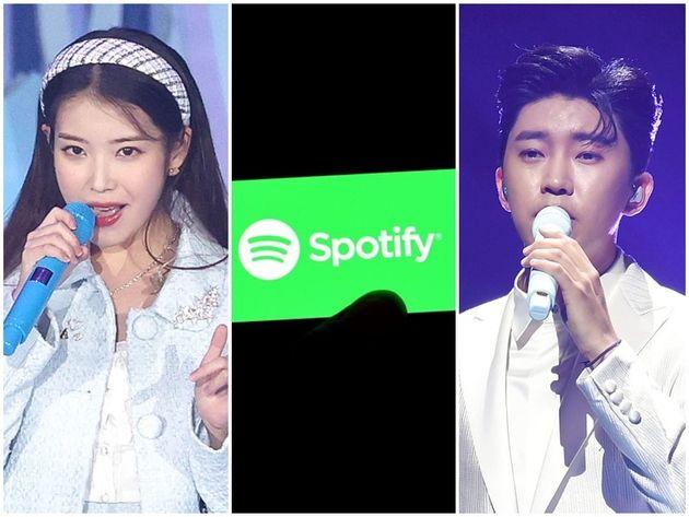 가수 아이유, 임영웅, 온라인 스트리밍 업체
