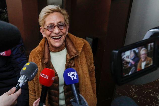 Isabelle Balkany, devant le prison de la santé, le 12 février 2020. (FRANCOIS GUILLOT /
