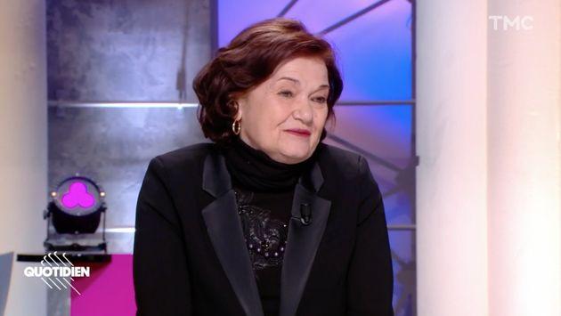 Capture d'écran de l'émission Quotidien du 10 mars 2021, avec Elisabeth Roudinesco, invitée de Yann