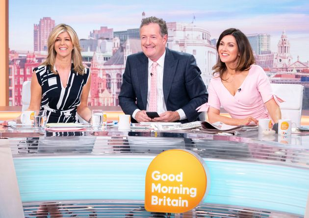 Kate with Piers Morgan and Susanna Reid on