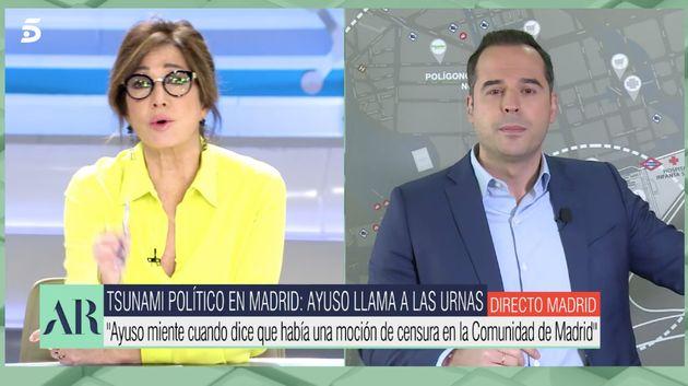 Ana Rosa Quintana y Aguado en 'El programa de