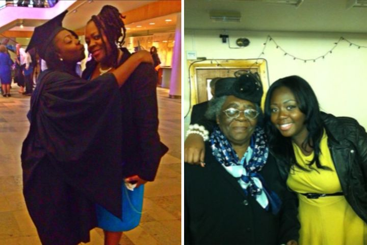 Shomoy Dormer and her mum (left) and nan (right)