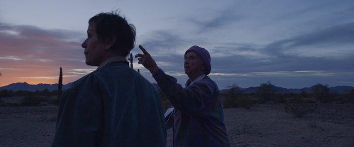 "Frances McDormand and Charlene Swankie in ""Nomadland,"" now streaming on Hulu."