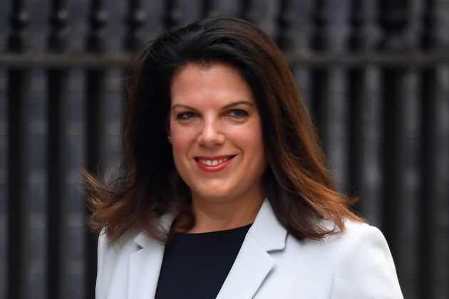 Britain's immigration minister Caroline Nokes arrives at 10 Downing