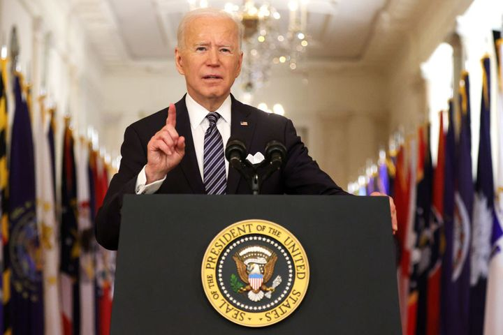 President Joe Biden delivers a prime-time address to the nation Thursday evening from the East Room of the White House.