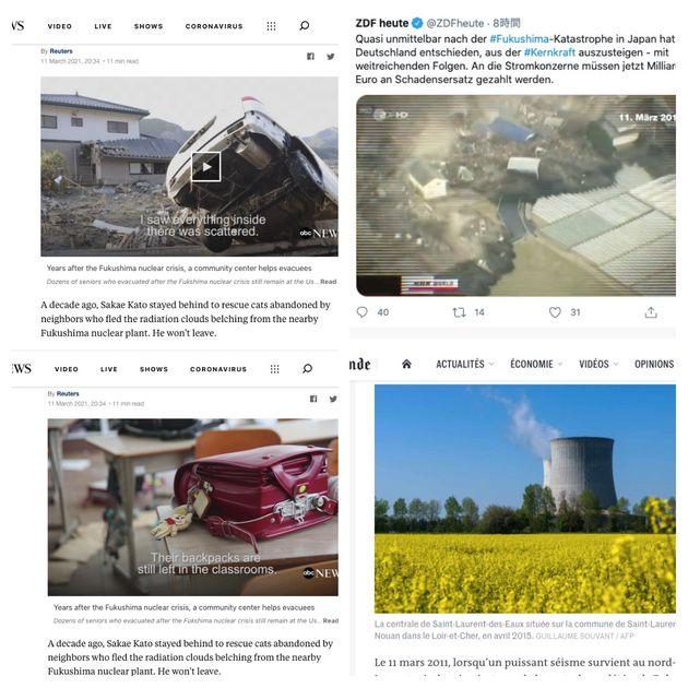 東日本大震災について伝える海外の報道