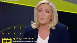 Marine Le Pen se défend de xénophobie en parlant de ses scores en outre-mer et ça ne passe