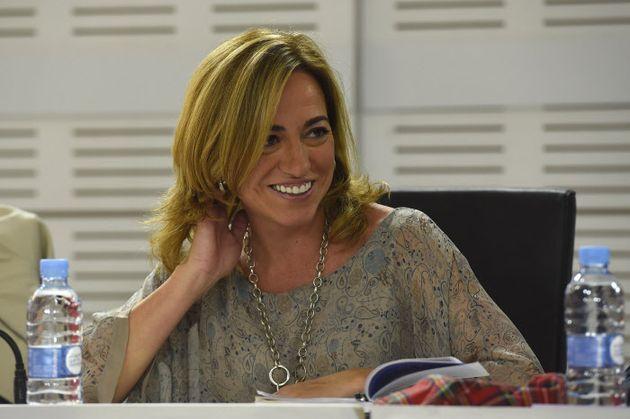 Carme Chacón en un comité del PSOE en