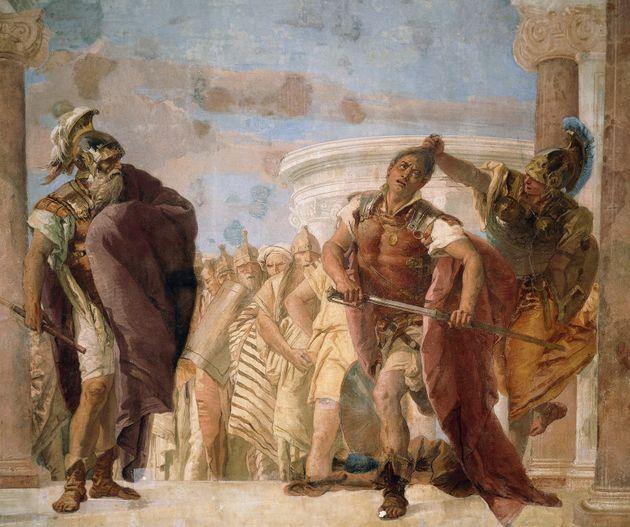 Η θεά Αθηνά αποτρέπει τον...