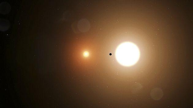 Le télescope TESS parvient repérer une exoplanète lorsqu'elle transite devant son étoile. Image