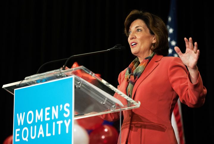 New York Lt. Gov. Kathy Hochul, seen here in October 2014 when she was a U.S. representative for the state's 26th congression