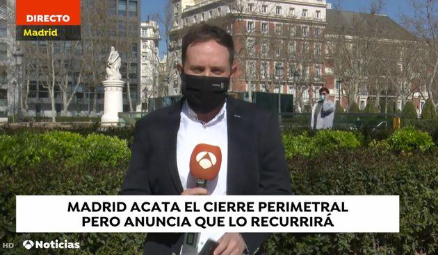 El grito sobre Ayuso que se ha escuchado en pleno directo en 'Antena 3