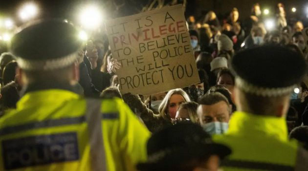 Clashes occurred at the Sarah Everard vigil in