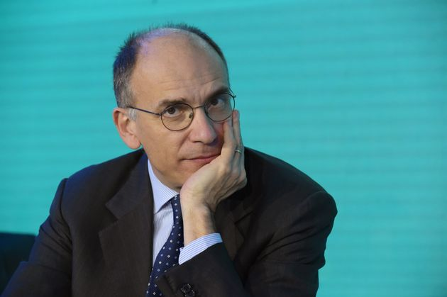 Former Italian Prime Minister Enrico Letta attends a session during the Pan-European stock exchange Euronext's...