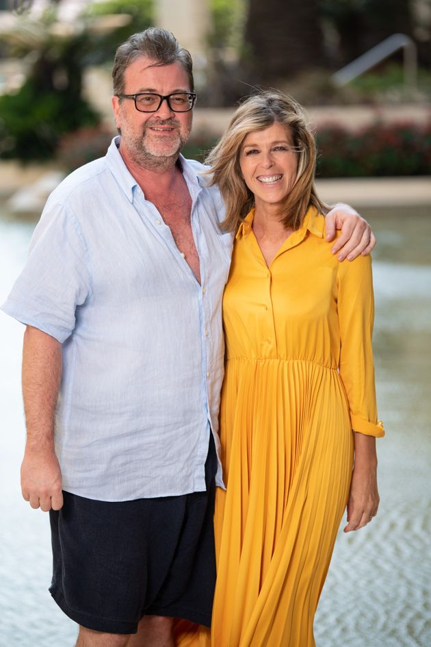 Derek Draper and Kate Garraway pictured after she left the I'm A Celebrity jungle in