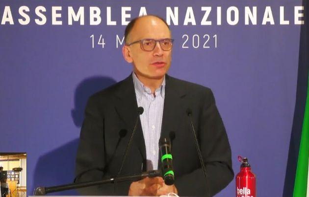 Enrico Letta all'assemblea
