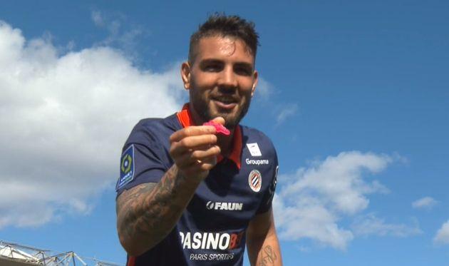 Face au Nîmes olympique, grand rival de son club de Montpellier, Andy Delort a voulu chambrer après avoir...