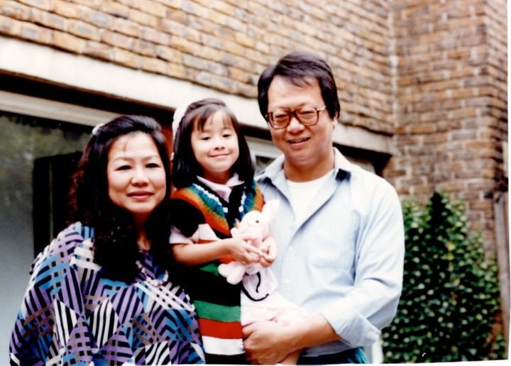 The author, Natalie Wong, and her parents
