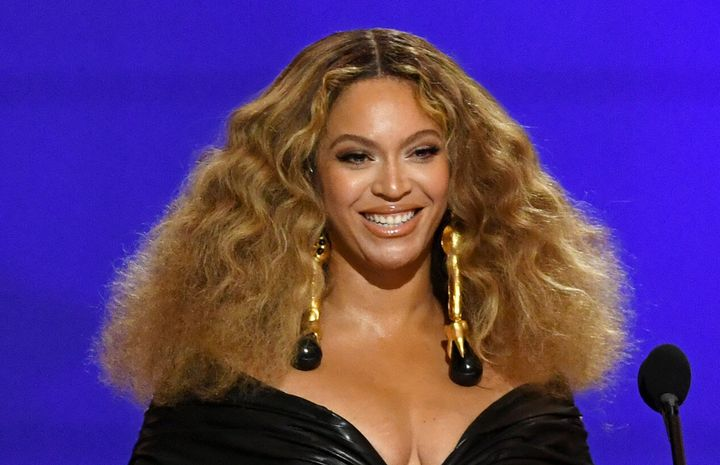 Beyoncé at the Grammy Awards at the Los Angeles Convention Center on March 14 in Los Angeles.