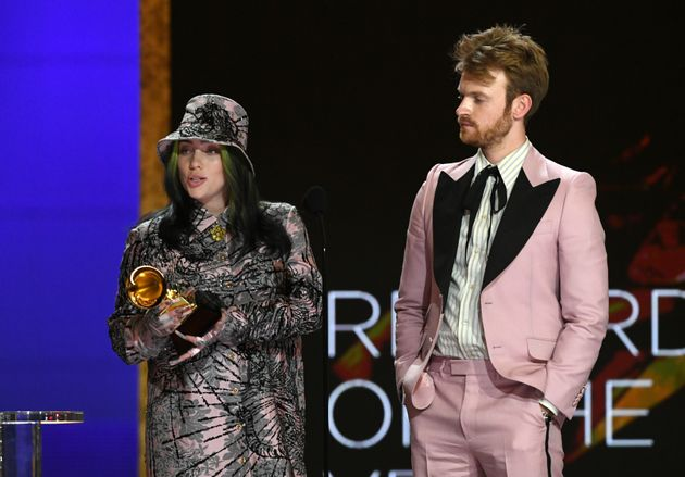 Billie Eilish and Finneas accept the Record of the Year award during the 63rd Annual Grammy