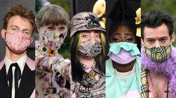 제63회 그래미 어워즈에서 팝스타들이 화려하고 특별한 마스크를 선보였다