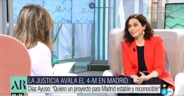 Díaz Ayuso, en 'El Programa de Ana