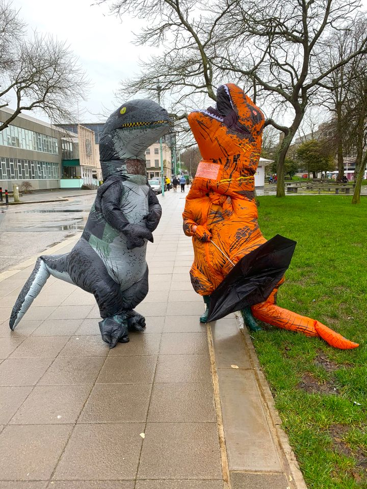 Dinosaurs are taking over Plymouth.