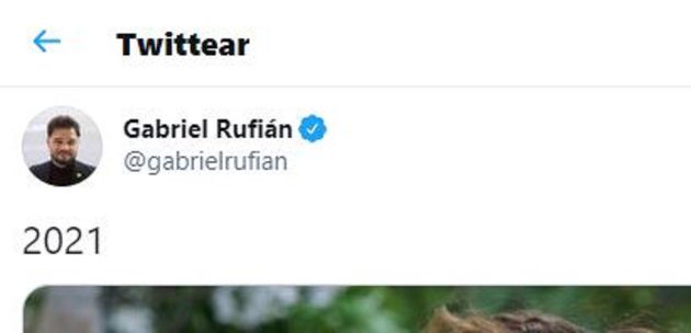 El comentado tuit de Gabriel