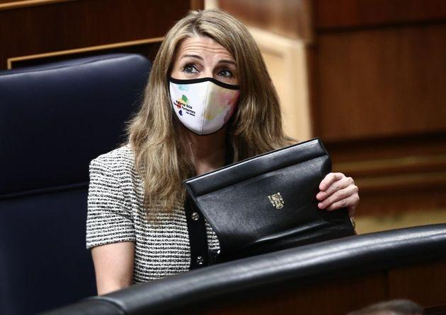 La ministra de Trabajo, Yolanda Díaz, en el Congreso en una imagen de