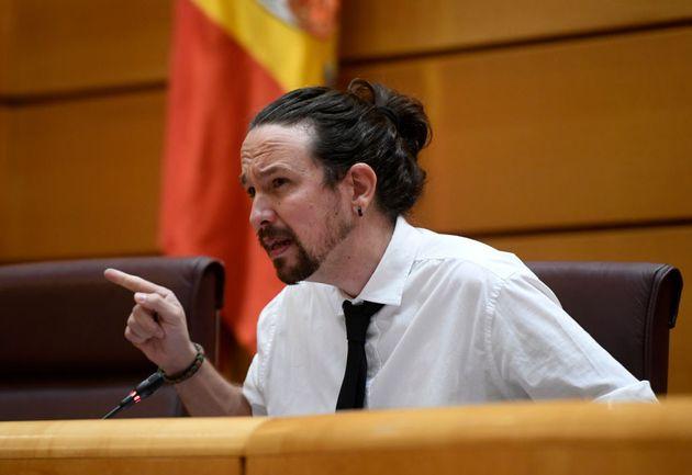 Pablo Iglesias, candidato de UP a la Comunidad de
