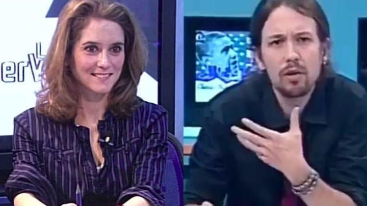 Isabel Díaz Ayuso y Pablo Iglesias en 'La Tuerka' en 2012.