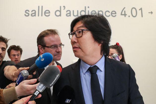 Jean- Vincent Placé au tribunal judiciaire de Paris en 2018