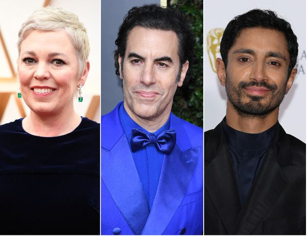 Olivia Colman, Sacha Baron Cohen and Riz Ahmed have all received Oscar nominations this