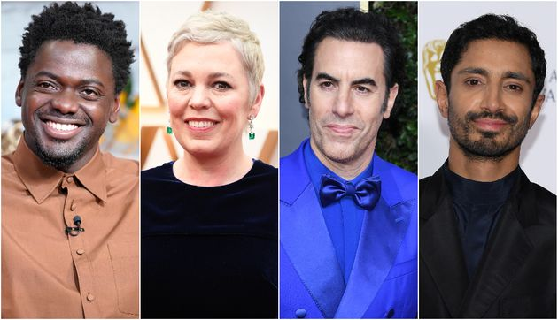 Daniel Kaluuya, Olivia Colman, Sacha Baron Cohen and Riz Ahmed have all received Oscar nominations this