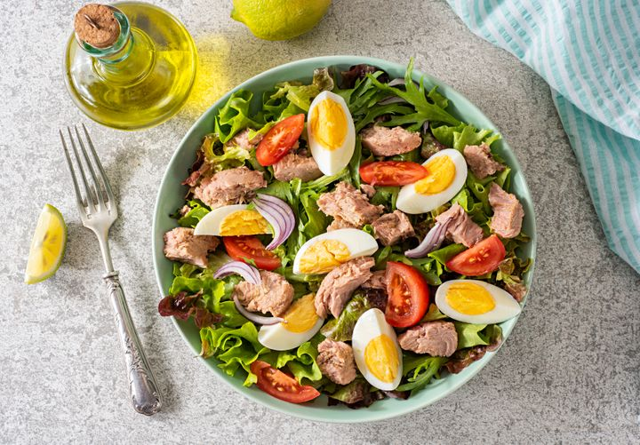 Canned tuna is an affordable protein choice that can be added to many types of meals.