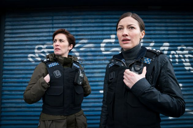 Kelly MacDonald with Line Of Duty co-star Vicky